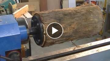 167 Woodturning a $150 table lamp from a $0 20 log