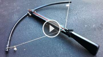 The Best homemade crossbow you'll ever find, Goes through plywood