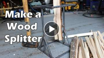 How to Make a DIY Kindling Splitter from Rebar