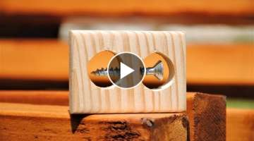 IMPOSSIBLE Screw in a Block of Wood! (here's how it's done)