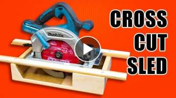 Portable Circular Saw CrossCut Sled: Woodworking Jig