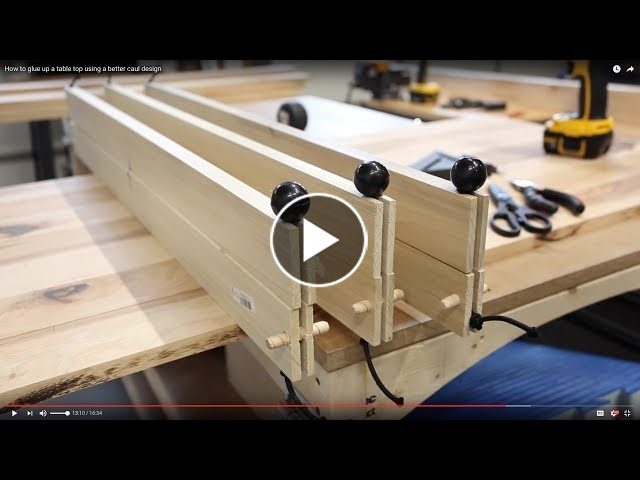 How To Make Bungee Cauls For Gluing Up A Table Top