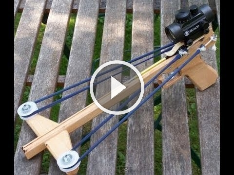 Building And Shooting The Slingshot Crossbow Pistol 3