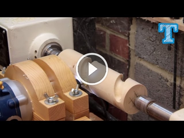 Cutting Wooden Spirals On The Lathe Homemade Router Jig