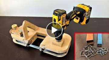 DIY Metal Cutting Bandsaw // Making a Portable Bandsaw (Drill Powered)