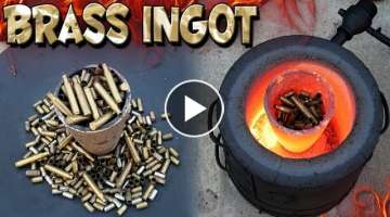 Making 5 Pound Brass Ingot From Bullet Shells