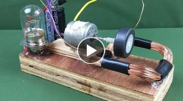 DIY 100% Free energy self running machine generator using dc motor