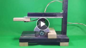 How to make Powerful Sliding Saw 12volt With 775 Motor
