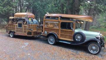 1929 Ford Model Woody Teardrop Trailer