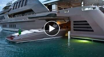 The Amazing Jade Superyacht Megayacht with Floating Garage $60,000,000 - BILLIONAIRES CLUB - LUXU...
