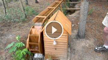 Inglenook Water Wheel Electrical Generator