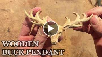 BUCK WOOD CARVING | WOODEN PENDANT | HANDMADE BUCK PENDANT | WOODCARVING VIDEO | NORWEGIAN ART |