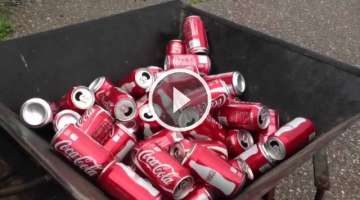Homemade aluminum can Baler
