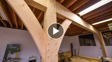 How To Install Huge Beams with Joinery