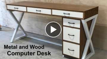 How To Build A Computer Desk - Metal and Wood Desk
