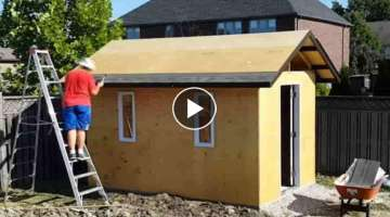 How to Build a Shed (On a Concrete Pad)