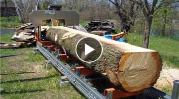 Amazing Fastest Homemade Wood Sawmill Machines, EXTREME Homemade Bandsaw Woodworking Tools