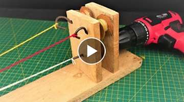How to Make a Simple Rope making Machine |DIY