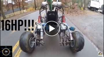 Riding the long travel full independent suspension dual engine go kart