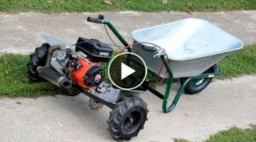 Homemade 200cc WHEELBARROW !? PART 2 + TEST