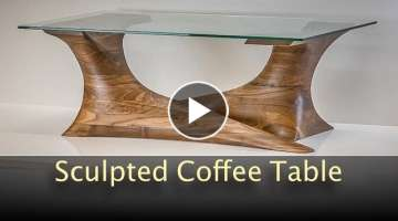 Walnut Sculpted Coffee Table - Build Video