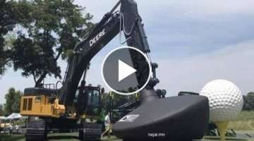 Excavator golf at John Deere Classic 2019