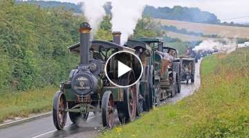 Incredible WW1 Military Vehicle Convoy Steam Through Dorset 11/8/18