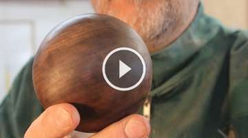 Turning a wooden Sphere on the Lathe