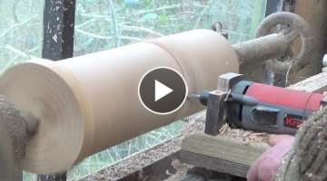 How To Make A Simple Copy Lathe (out of water pipes!).