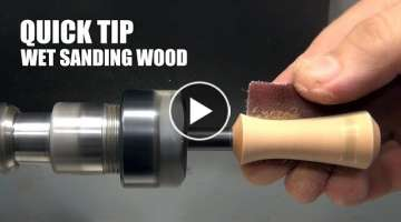 Quick Tip: Wet Sanding Wood (inspired by Carl Jacobson)
