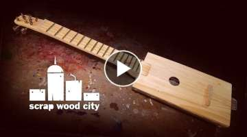 Making a 4 string acoustic guitar out of scrap wood and metal