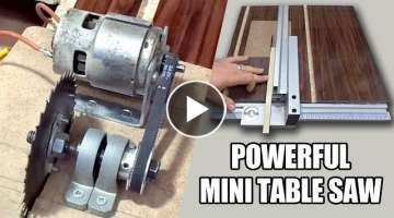 How to make Powerful Mini Table Saw – 12volt