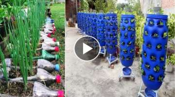 Beautiful Garden ideas Using Old Plastic Bottles - DIY Garden Ideas