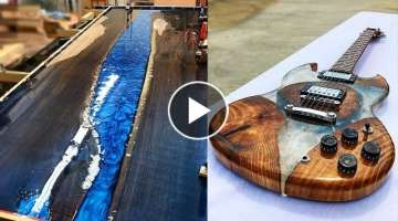 10 MOST Amazing Epoxy Resin and Wood River Table ! Awesome DIY Woodworking Projects and Products ...