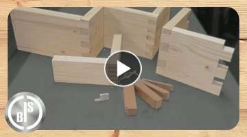 AWESOME! One simple Box Joint Jig, four different sizes of Finger Joints / Fingerzinken Vorrichtu...
