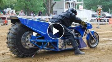 100 км/ч за 0,7 секунды -Top Fuel Motorcycle Dirt Drag Racing