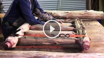 Rustic Log Bed | Littlebranch Farm