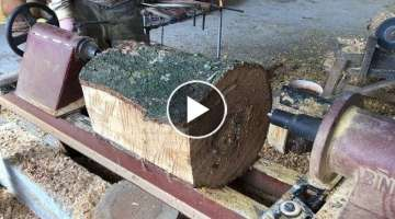 Creative Wood And Lathe Work // Woodturning Skills Are Extremely Easy, Art Woodworking