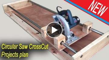 NEW Circular Saw Crosscut Jig Project Plan - Smart Techniques Woodworking