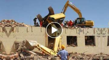 WOW! IDIOTS Heavy Equipment Trucks Excavator Skills Fail - Loader Excavator Fail