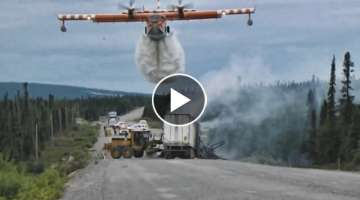Fire Fighting Airplanes in Action Compilation