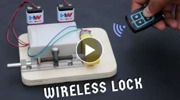 How to Make Remote Control Door Lock at Home