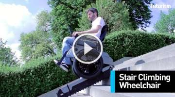 This Wheelchair Can Climb Any Staircase At The Push Of A Button
