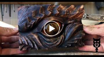 Smaugs Eye wood carving | A tribute to J.R.R Tolkien by Jonasolsenwoodcraft
