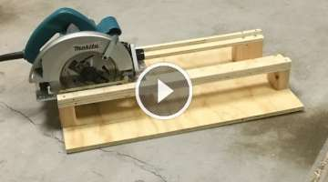 SIMPLE Circular Saw Cross-Cutting Jig