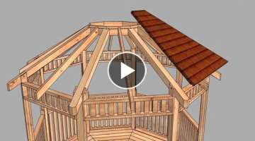 Gazebo 10ft Octagon Assembly Sequence from Outdoor Living