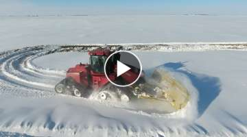 Pushing big snow with big iron - Jason LeBlanc Farm