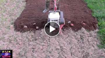 How to plow a garden with cutters