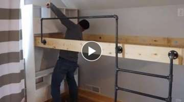 How To Make Easy Double Bunk Beds - Woodworking