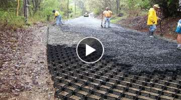 Amazing Modern Road Construction Machine Technology, World Fastest Asphalt Paving Equipment Machi...